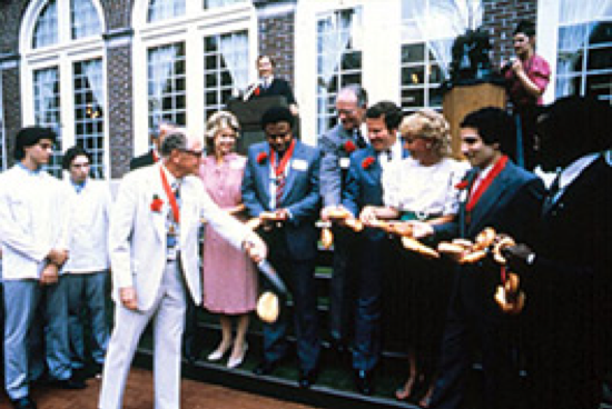 The Culinary Institute of America President Ferdinand E. Metz at the opening of the American Bounty Restaurant at the CIA Hyde Park, NY campus.
