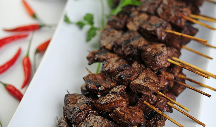 Beef Skewers With Green Chile Sauce