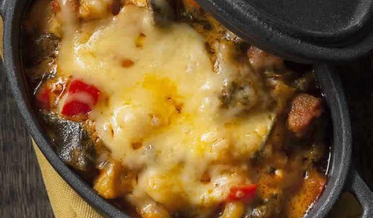 BBQ hominy stew