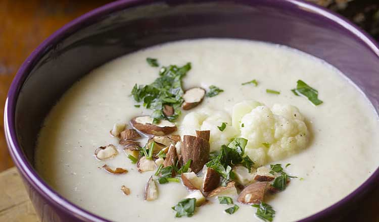 Cauliflower almond soup