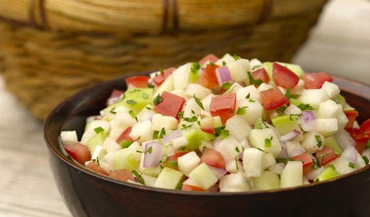 Chayote jicama salsa