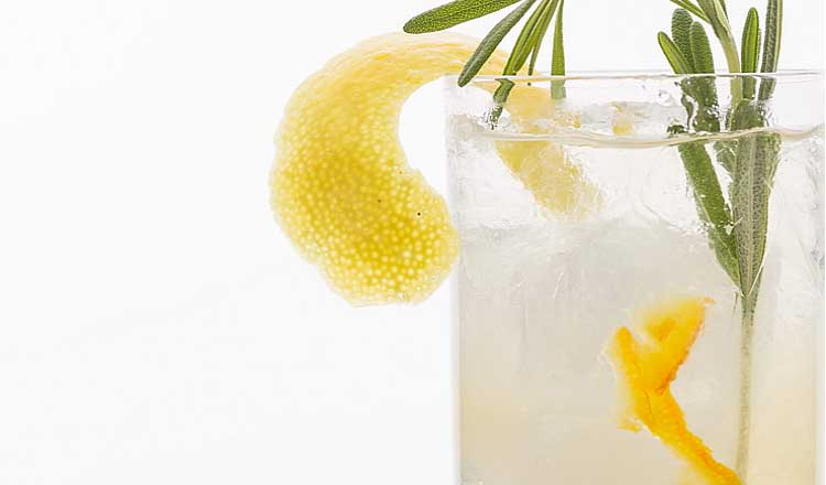 Orange marmalade and rosemary cocktail
