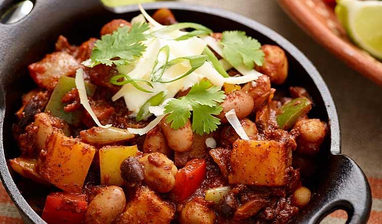 Vegetarian Chili with Winter Squash and Wild Mushrooms