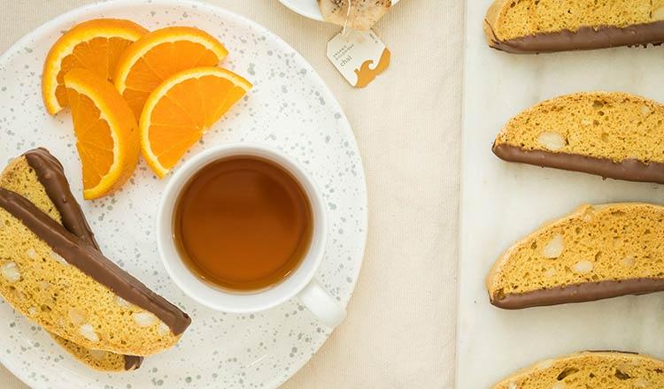 Orange and Macadamia Biscotti
