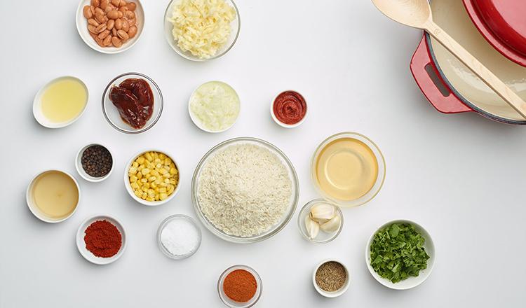 Vegetarian Dirty Rice ingredients