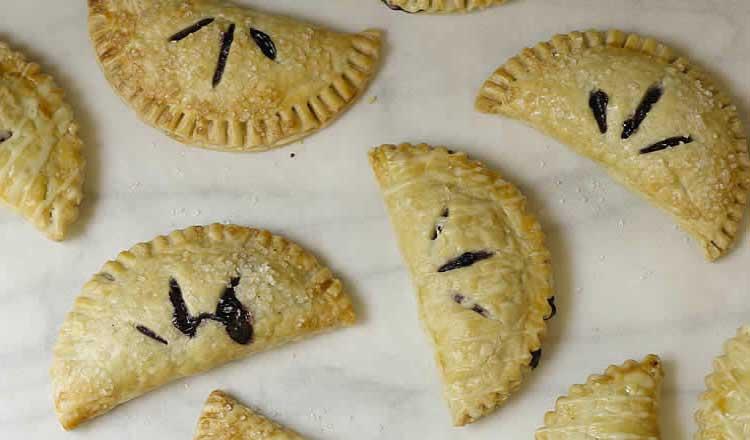 lemon glazed blueberry hand pies
