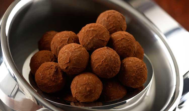 dark cholocate truffles