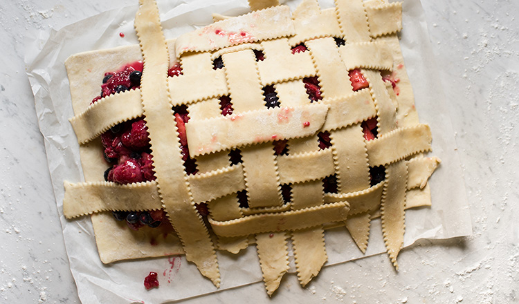 double-crust berry galette