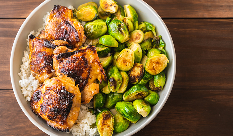 Honey-Lime Chicken with Brussels Sprouts