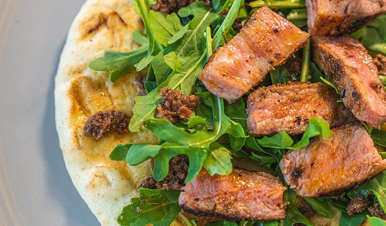 Grilled Pork Pitas