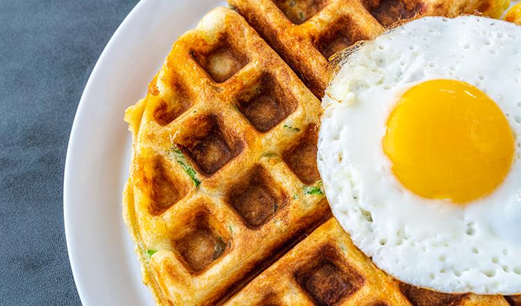 Savory Cheddar and Scallion Waffles