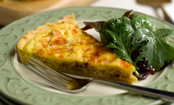 Carmelized onion quiche