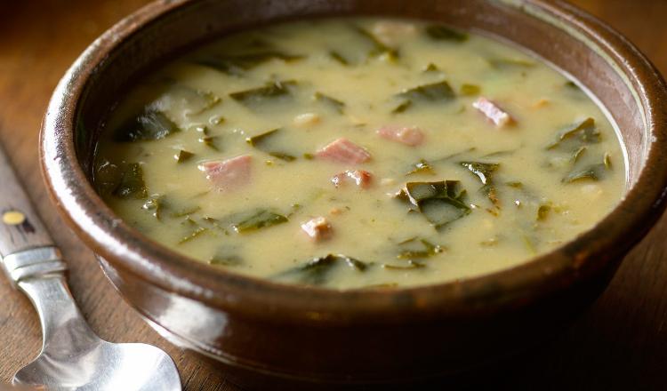 Ham Bone and Collard Greens Soup