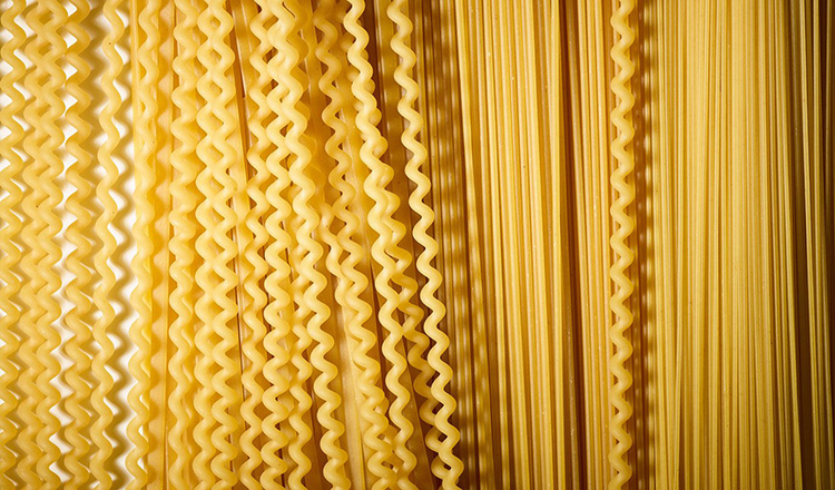 Various dried pastas