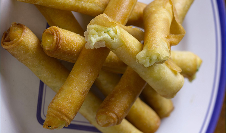 Cheese and Potato Cigars