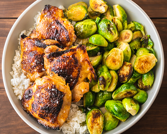 Honey Lime Chicken with Brussels Sprouts