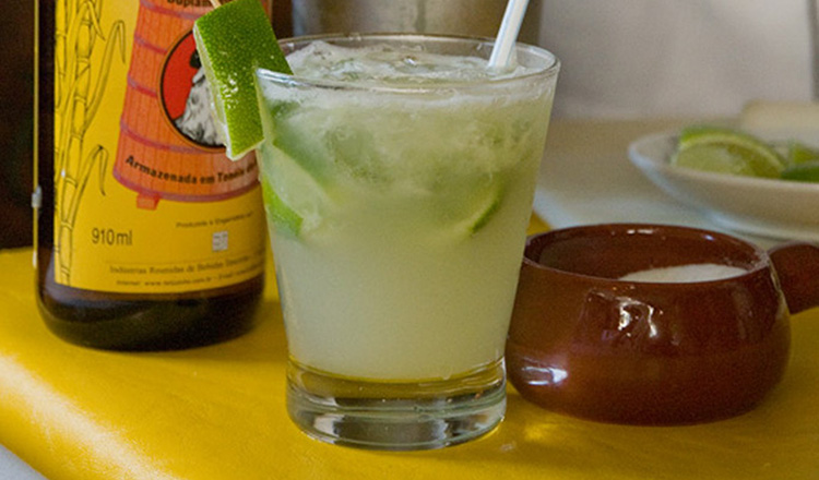 Caipirinha - the national cocktail of Brazil made with lime juice, sugar, and cachaca.