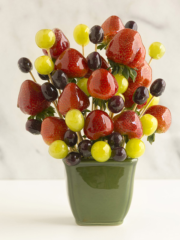 Candy-Coated Fruit Bouquet