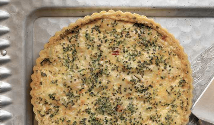 Crab and Chive Tart