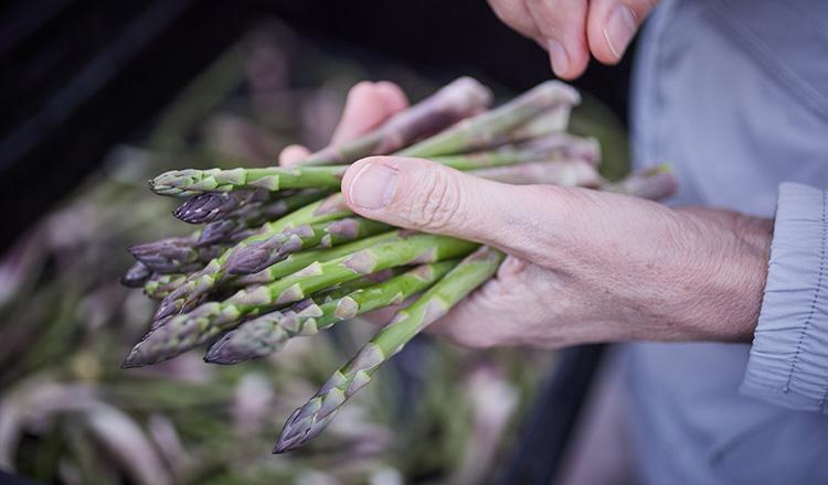 Asparagus at a farmers' market