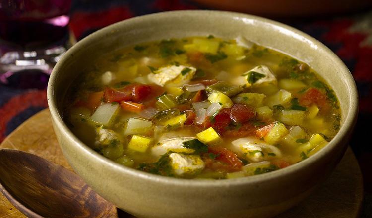Chicken Vegetable Soup Azteca