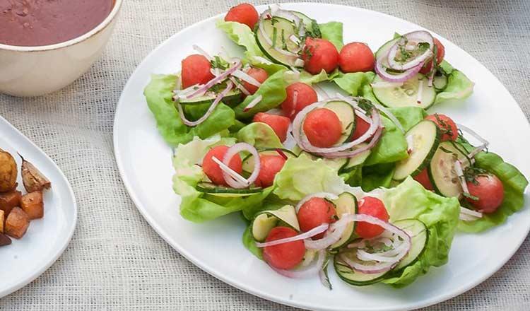 Watermelon and cumber salad